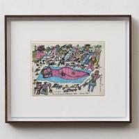 Juan Kraeppellin, Desayuno de vacaciones en Holanda,1982. Ink on paper 22.5 x 31 cm. NFS. Centro de Investigación y Archivo Kraeppellin.