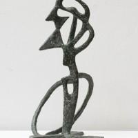 Germán Cueto, Autoretrato, s/f. Bronce. 46 x 27 x 28 cm. NFS. Colección Ysabel Galán.