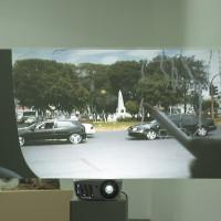 Hernaín Bravo, Cartografía de paisaje, 2006. Video proyección. Cortesía del artista y Fundación CALOSA, Irapuato. Fotografía: Ana Blanco