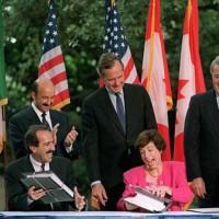 Tráfico de Libertades Consumadas o NAFTA por sus siglas en inglés, 1994. Foto tomada de internet.