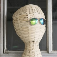 me, 2016. Wicker, Sun Glasses. 19 × 11 × 11 in. Courtesy of Good Weather, North Little Rock.