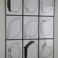 Jair Jesús Toledo, Pelo y Cebeza, 2016. Tinta estilográfica sobre papel. 1.20 m x 80 cm. Cortesía de UV Estudios, Buenos Aires.