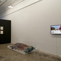 "Installation view of ""Mutual Support"" at Pelican Bomb Gallery X, New Orleans. Courtesy Pelican Bomb, New Orleans. Photo by Jonathan Traviesa."