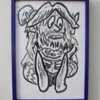 Jair Jesús Toledo, 7 leprechauns protectores, 2017. Tinta estilográfica sobre papel. 30 cm x 40 cm.