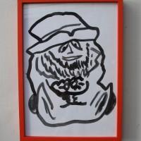 Jair Jesús Toledo, 7 leprechauns protectores, 2017. Tinta estilográfica sobre papel. 30 cm x 40 cm. Cortesía de UV Estudios, Buenos Aires.