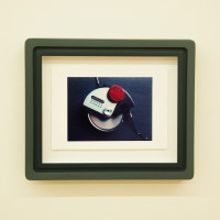 Luca Nino Antonucci, Imago: JM_FRAME_0:19:23, 2017. Color analog video print in custom frame, unique. 10 x 11.75 x 2 inches. Courtesy: City Limits