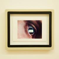 Luca Nino Antonucci, Imago: JM_FRAME_E_0:10:33, 2017. Color analog video print in custom frame, unique. 10 x 11.75 x 2 inches. Courtesy: City Limits