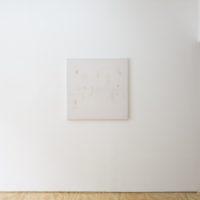 Carissa Rodriguez, A Reena Spaulings Enigma, 2010. Tablecloth, stretcher bars. 105 x 104 cm. Courtesy of Lodos, Mexico City. Photo: Ramiro Chaves, White Balance