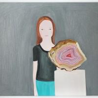 Agata, 2017. Acrílico sobre lino. 74 x 51 cm. Cortesía de María Casado Home Gallery
