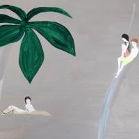Rio marrón (detalle), 2017. Acrílico sobre lino. 198 x 200 cm. Cortesía de María Casado Home Gallery