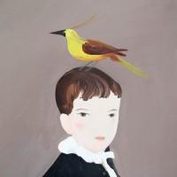 Darwin, 2017. Acrílico sobre lino. 47 x 74 cm. Cortesía de María Casado Home Gallery, Buenos Aires