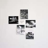 Frank Perrin, Mood Board #03, 2017. 5 unique photographies & one handwritten text. Courtesy of the artist.