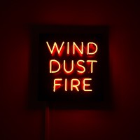 Frank Perrin, Wind, Dust, Fire (Neon), 2017. 20 x 25 in. Courtesy of the artist.