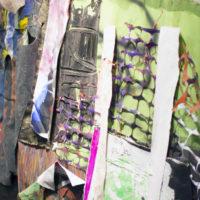 Detalle de la pieza Hoyos negros, Allan Villavicencio, Construir una grieta, GalerÍa Libertad, 2017. Cortesía del artista.