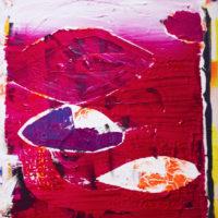 Allan Villavicencio, Estudio para Le Rideau, 2017, acrílico sobre tela, 50 x 60 cm. Galería Libertad. Cortesía del artista