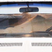 Andres Marroquin Winkelmann, Dodge 1974, 2012. Dodge coronet 1974 intervenido con arena. 150 x 200 x 4480. Cortesía de Revolver Galería