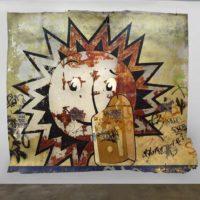 José Carlos Martinat, Donofrio, 2014. Extracción de muro. 377 x 425. Cortesía de Revolver Galería