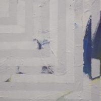 1BDW2K, 2017. Acrílico sobre tela. 100 x 110 cm. Cortesía de Sismo, Ciudad de México