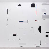 Leo Marz, Las batallas del display, 2017. Acrílico en muro. Dimensions variable. Cortesía: El cuarto de máquinas. Fotografías: Sergio López