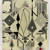 Francisco Larios, Zeno en Tajikistán, 2013. Acrílico y barniz sobre tela. 200 x 180 cm. Cortesía: El cuarto de máquinas. Fotografía: Sergio López
