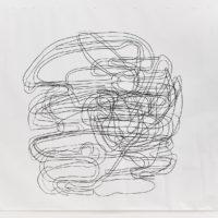 Yolanda Ceballos, Teoría de la transición: Desplazamiento, 2017. Carboncillo en papel. 280 x 300 cm. Cortesía: El cuarto de máquinas. Fotografía: Sergio López