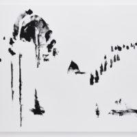 Tahanny Lee Betancourt, Los que se quedan, 2017. Serigrafía tinta sobre lienzo. 180 x 240 cm. Cortesía: El cuarto de máquinas. Fotografía: Sergio López
