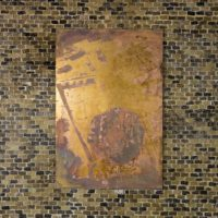 Michael Ray-Von, 2007 Guatemala City sinkhole. Brass. 40.5 x 61 cm. Courtesy of the artist. Photo by Ramiro Chávez