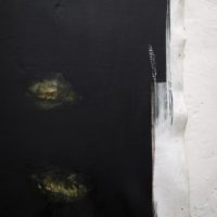 Giancarlo Scaglia, Tres islas (detalle). Óleo sobre lienzo. 200 x 160 cm. Cortesía de Sagrada Mercancía y Revolver Galería. Fotografía: Felipe Ugalde