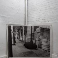 Alberto Borea, Wall Street, 2015. Serigrafía sobre tela. 140 x 180 cm. Cortesía de Sagrada Mercancía y Revolver Galería. Fotografía: Felipe Ugalde