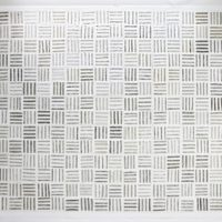 Chemi Rosado-Seijo, Untitled #1, (from the series: One Thousand Four Hundred and Seventy One Rides), 2017. Clear tape, dirt, primed masonite panels. 108.75 x 156.75 inches. Courtesy of Embajada, San Juan.