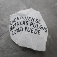 Cada quien se mata sus pulgas como puede, Sangre de yegua preñada, Cristian Franco, PARQUE Galería, Mexico City, 2017. Photo by: Ramiro Chaves