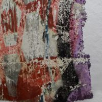 José Carlos Martinat, Gol (detalle), 2017. Extracción de muro. 160 x 170 cm. Cortesía de Sagrada Mercancía y Revolver Galería. Fotografía: Felipe Ugalde