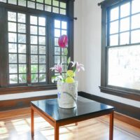 "Jessica Ninci, Large Flower Vase, 2017. Stoneware. L: 12 x 10 x 10""."