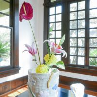 "Jessica Ninci, Large Flower Vase, 2017 & Small Flower Vase, 2017. Stoneware. L: 12 x 10 x 10"". S: 6 x 5 x 5""."