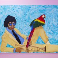 "Radamés ""Juni"" Figueroa, Luis Sunshine ""Perico"" Ortiz , acrylic on canvas, 183 cm x 244 cm, 2017. Photography: Ramiro Chaves."