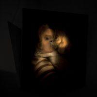 Hay salida al final del laberinto?, 2017. 40 cm x 40 cm. Óleo s/tela. Cortesía de Big Sur, Buenos Aires.