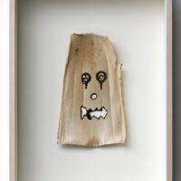 Máscaras. Corteza de bamboo | Bambu bark. 47 x 33 cm c/u | 18.5 x 12.9 in ea. Courtesy of Galería Alterna, Mexico City