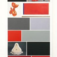 Abramovic • Koons • Duchamp. Óleo sobre lienzo. 135 x 96 cm. Cortesía de Ginsberg Galería