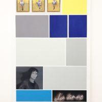 Bacon • Richter • Emin. Óleo sobre lienzo. 135 x 96 cm. Cortesía de Ginsberg Galería