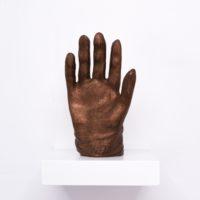 Miguel Ángel Salazar, King Uthal (IV), 2017. 24 x 12.5 x 16 cm. Bronze fillmaent hand finished 3D print. Photo by Juan Pablo de la Vega. Image courtesy of Galería Mascota and the artist.