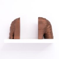 Miguel Ángel Salazar, King Uthal (III), 2017. 27 x 14 x 20 cm & 27 x 20 x 20 cm. Bronze fillmaent hand finished 3D print. Photo by Juan Pablo de la Vega. Image courtesy of Galería Mascota and the artist.