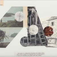 Pablo Helguera, Tourist Territory, 2007, Collage on paper, 9 x 12 inches. Courtesy of the artist.