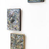 Mariana Ferrari, Sin título. Mixta sobre papel sobre madera. 100 x 100 cm. Imagen cortesía de María Casado Home Gallery
