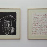 Rafael Canogar, El muerto & Texto de la carpeta La violencia, 1969. Imagen cortesía de Museo de la Solidaridad Salvador Allende.