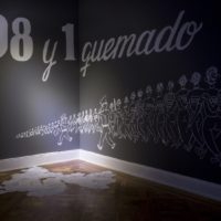 Erwing Augsten, 108 y muchos anónimos, 2017. Imagen cortesía del Museo de la Solidaridad Salvador Allende.