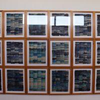 Secuenciación de Azul Marino, 2013. Acuarela sobre Directorio de Santiago de Chile. Medidas variables. Cortesía de Proyectos Impala. Fotografía: Proyectos Impala.