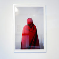 "Jamil Hellu, Veil I, 2015. Digital pigment print, framed. 33 x 22"". Ed 2/10. Image courtesy of Jonathan Hopson"