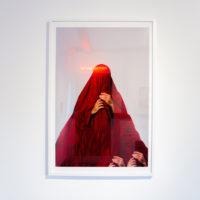 """Jamil Hellu, Veil II, 2016. Digital pigment print, framed. 33 x 22"""". Ed 2/10."""