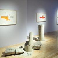 Installation view. Eduardo Abaroa, Tipología del estorbo, 2017. Image courtesy of Museo Amparo, Puebla.