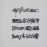 Mirtha-Dermisache, Fragmento de Historia 2, 1974. Tinta sobre papel. 281 x 232 cm.